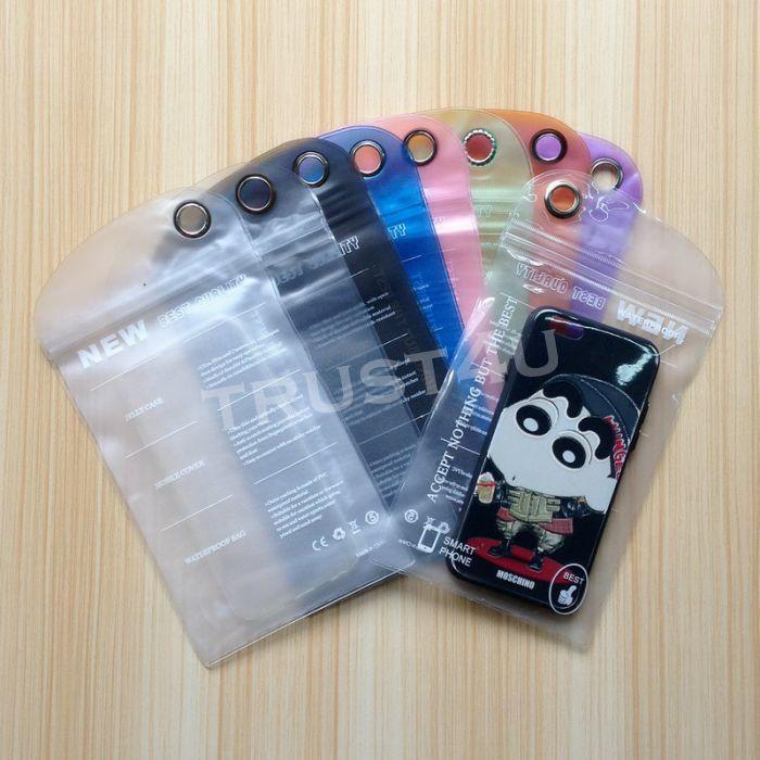 10 * 20 * 11.5 21.5 12.5 * 23 del PVC Imballaggi di plastica del sacchetto del sacchetto della cassa del telefono mobile sacchetto impermeabile del sacchetto Pudding membrana sedicente per cavo telefonico