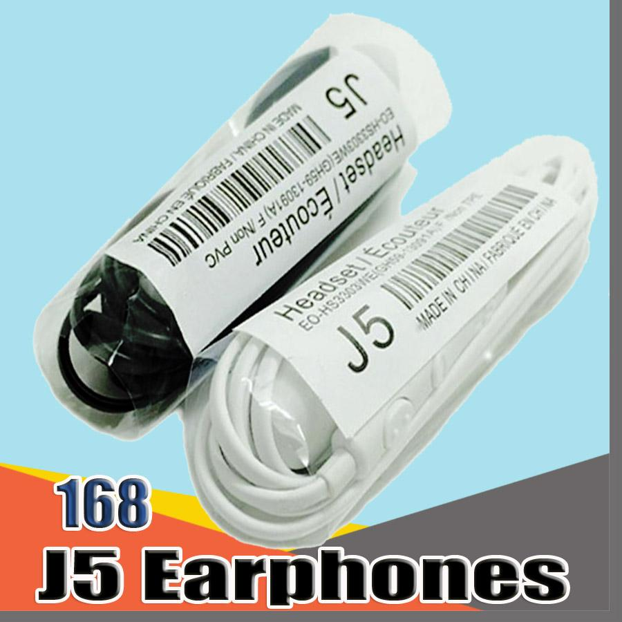 168B High Quality 3.5mm In-ear Earphone with Mic for samsung galaxy S4 J5 Sony Xiaomi smart mobile phone Without Retail Box no Logo