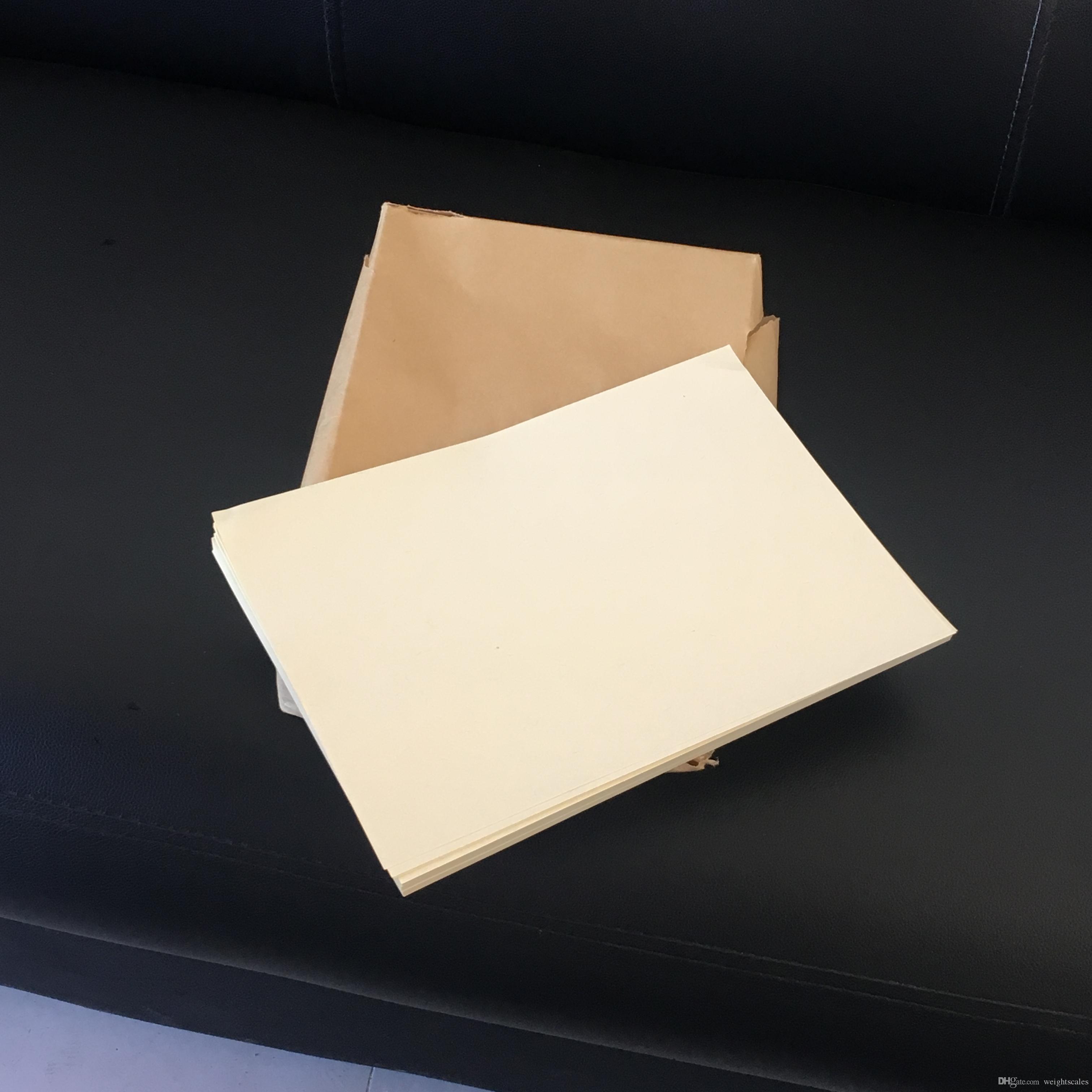 hojas de papel bond 75% algodón 25% lino pase papel de prueba de bolígrafo falsificado Color beige papel 8.5IN * 11IN