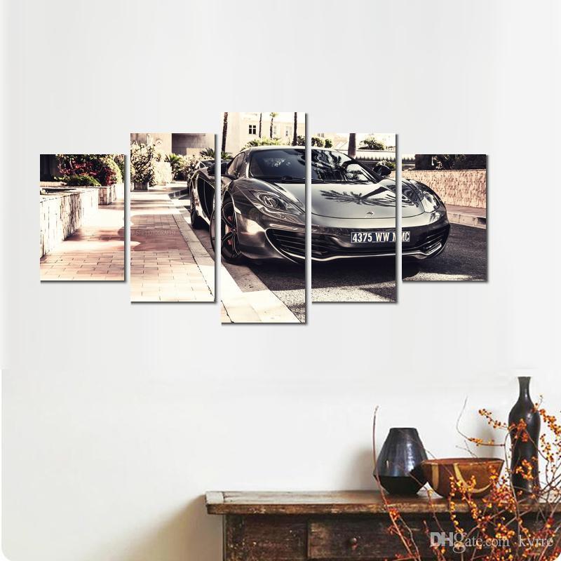 5 ensembles affiche moderne McLaren auto voiture style toile impressions imprimées wall art sans cadre pour décor
