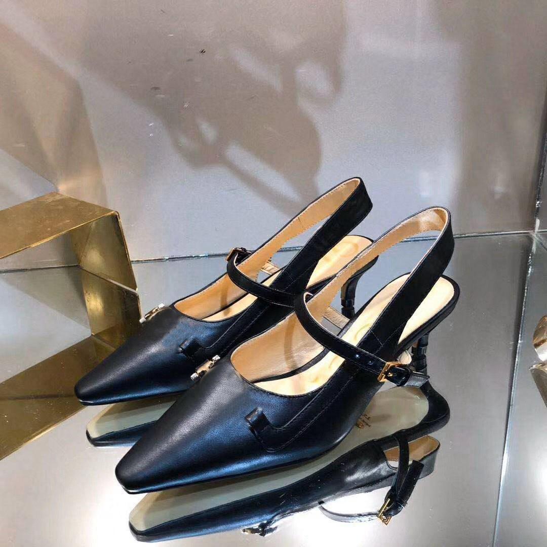 4,5 centímetros de luxo B0-13 salto alto Mulheres de couro sapatos de vestido Couro Designer salto agulha dentro da pele de carneiro Mulheres Wedding Party Dress Shoes; 35-40
