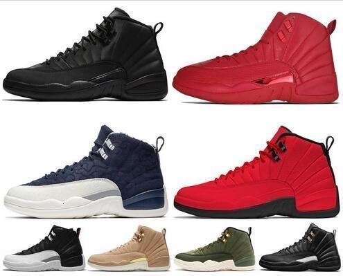 Yeni 12s Vinterize WNTR Gym Kırmızı Michigan Erkek Basketbol Ayakkabı Usta Gribi Oyunu Taksi 12 erkek spor ayakkabısı tasarımcı eğitmenler ayakkabı ABD 7-13