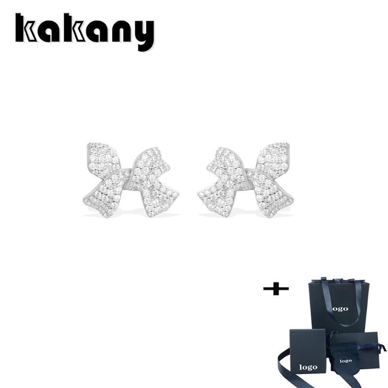 Kakany NUOVO modo di alta qualità scintillante zircone Bow orecchini di fascino Monaco personalità femminile nozze gioielli romantico regalo