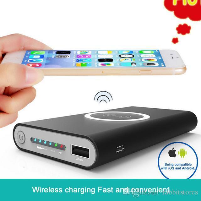 E Qi cargador 10000mAh Banco de potencia inalámbrica de carga rápida caja del adaptador para Samsung Notes8 para Iphone Iphone 8 X con libre al por menor