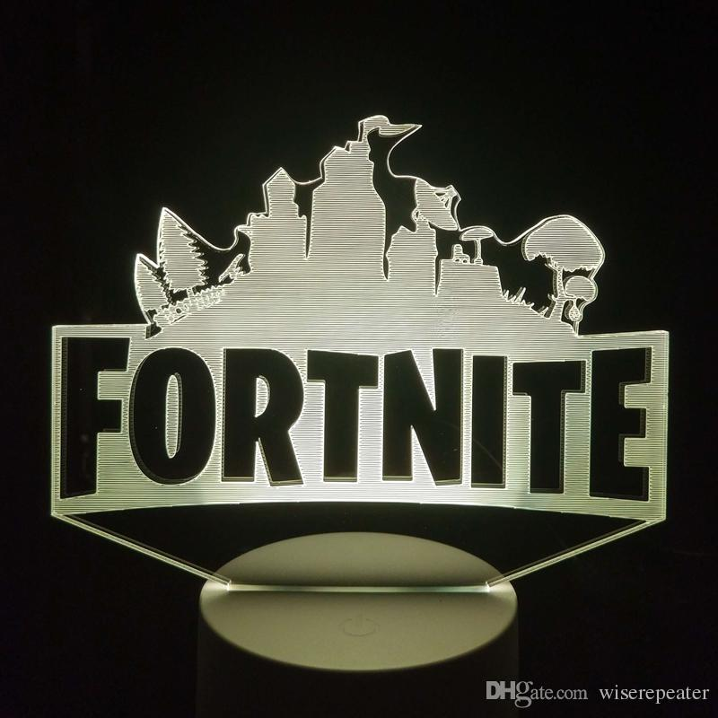 Fortnite 3D Optical Illusion Lamp Night Light DC 5V USB Powered Battery Wholesale Dropshipping Free Shipping