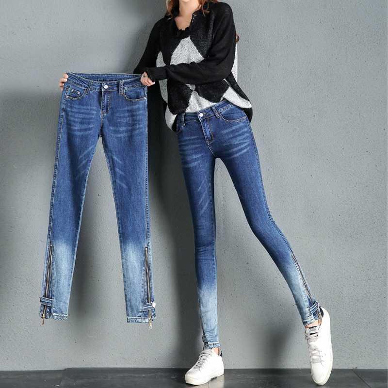Femmes taille haute Skinny Jeans femme élastique Push Up Tour de hanches Crayon Denim Pantalons Zipper Femme stretch Pantalons Vaqueros Mujer