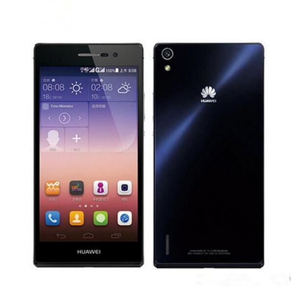 Original de telefone celular Huawei Ascend P7 4G LTE 2GB RAM 16GB ROM Kirin 910T Quad Core Android 5.0 polegadas 13.0MP Smart Mobile Telefone