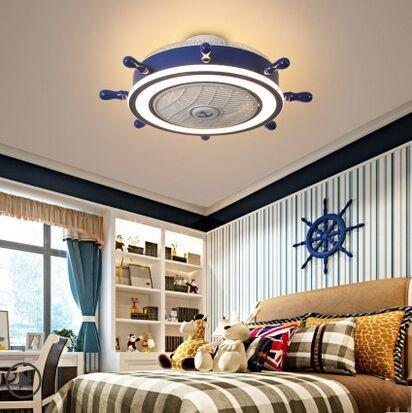 2019 Children\'S Room Ceiling Fan Light Ceiling Fans Lighting Remove Control  Invisible Fan Home Led Lamps Lighting Blue Rudder Ceiling Fan L MYY From ...
