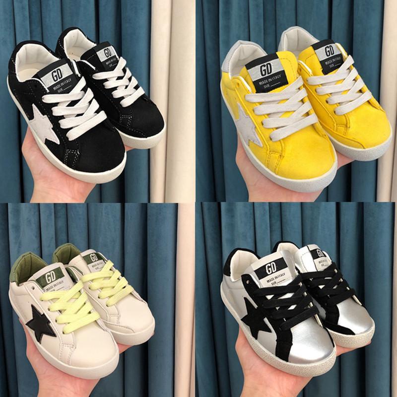 2020 وصول جديد GG احذية عادية للطفل جدي أسود أبيض وردي فتاة بوي الأطفال طفل احذية رياضية اللباس والأحذية القماشية المدرسة
