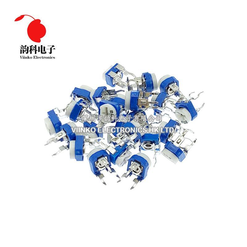 Cheap Potentiometers 20pcs RM065 RM-065 100 200 500 ohm 1 2 5 10 20 50 100 200K 500K 1M ohm Trimpot Trimmer