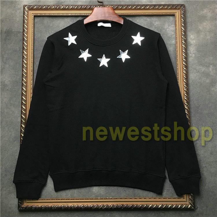 2020 nova moda Moda Outono Vestuário Mens lantejoulas talão pentagrama hoodies alta qualidade homens jumpers esporte Designer hoodies cobre capuzes
