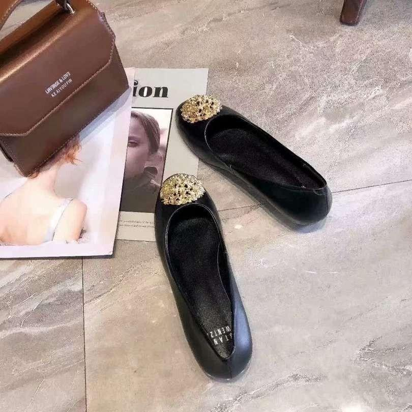 Comfortable Suede Ballet Flats Slip-On Bowtie Spring Autumn Woman Single Shoes Z
