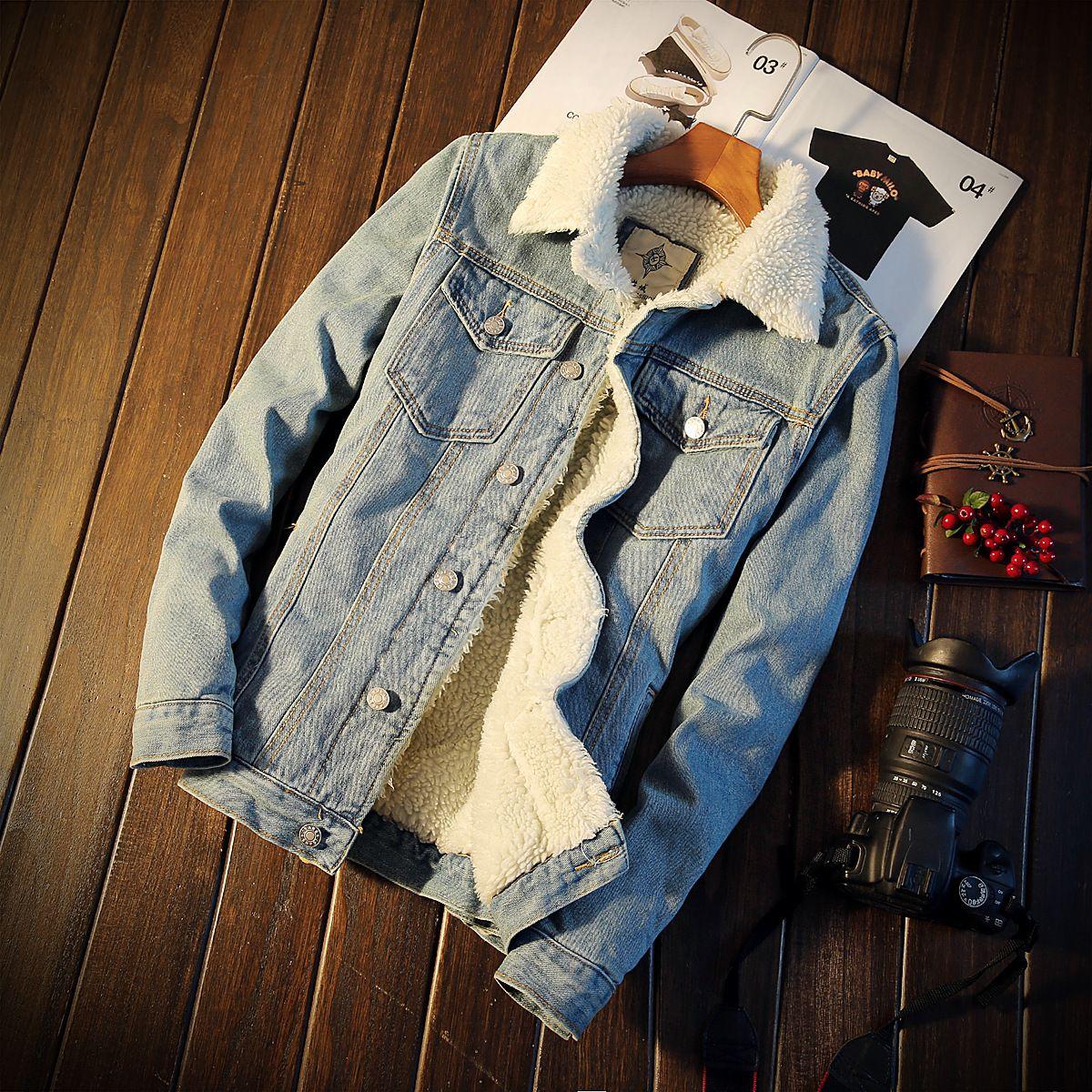 Harley Erkek Denim Ceket Perçinler Jean Ceket Punk Rock Yıkanmış Motosiklet Ceket Slim Fit Mavi Tasarımcı Giysi kış İlkbahar Sonbahar