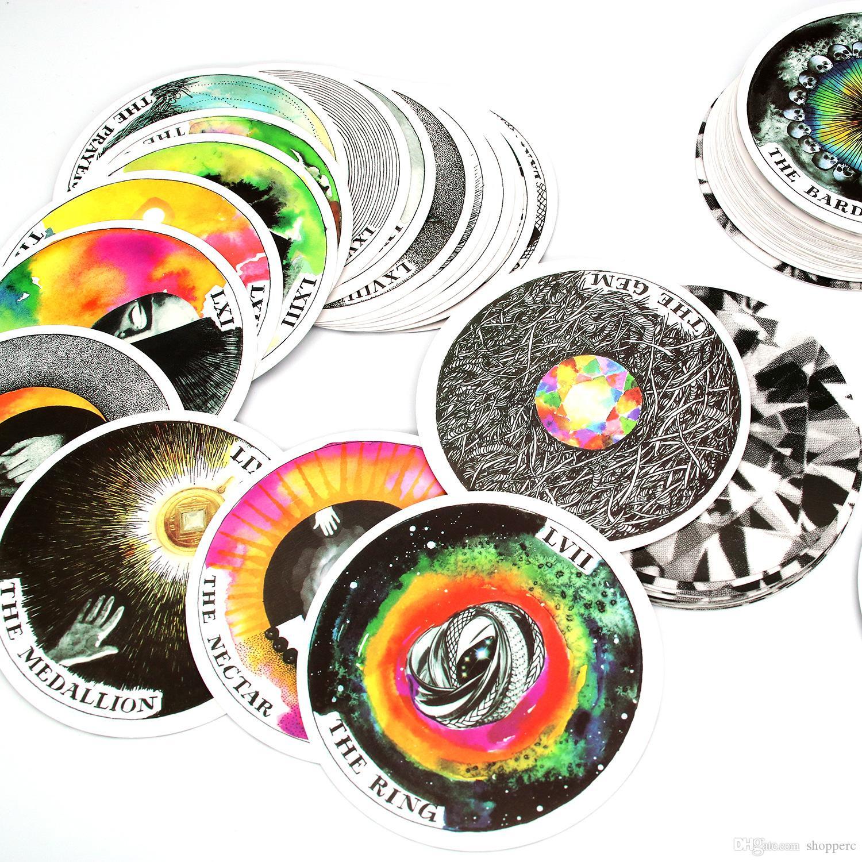 78pcs البرية غير معروف الأمثلة الطابق الدليل بواسطة كيم Krans التعميم أوراكل التارو سطح السفينة بطاقة لعبة توجيه بطاقة قراءة البخت مصير