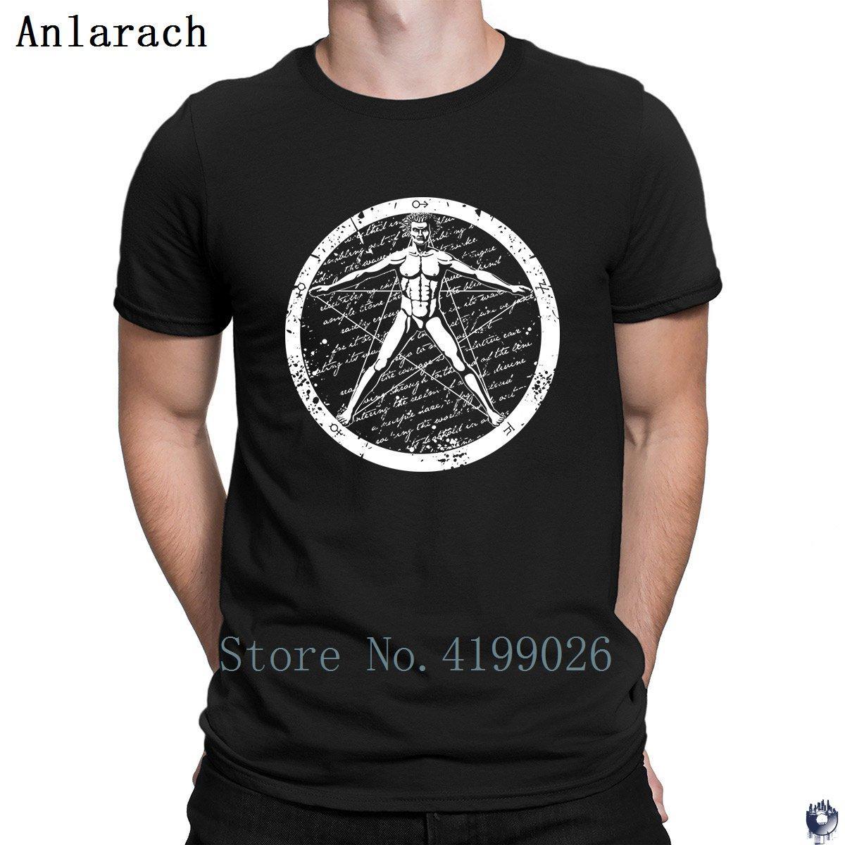 Agrippa Pentagram t-shirts en coton simples lettres hip hop T-shirt unisexe pour les hommes designer équipé d'été drôle de style décontracté