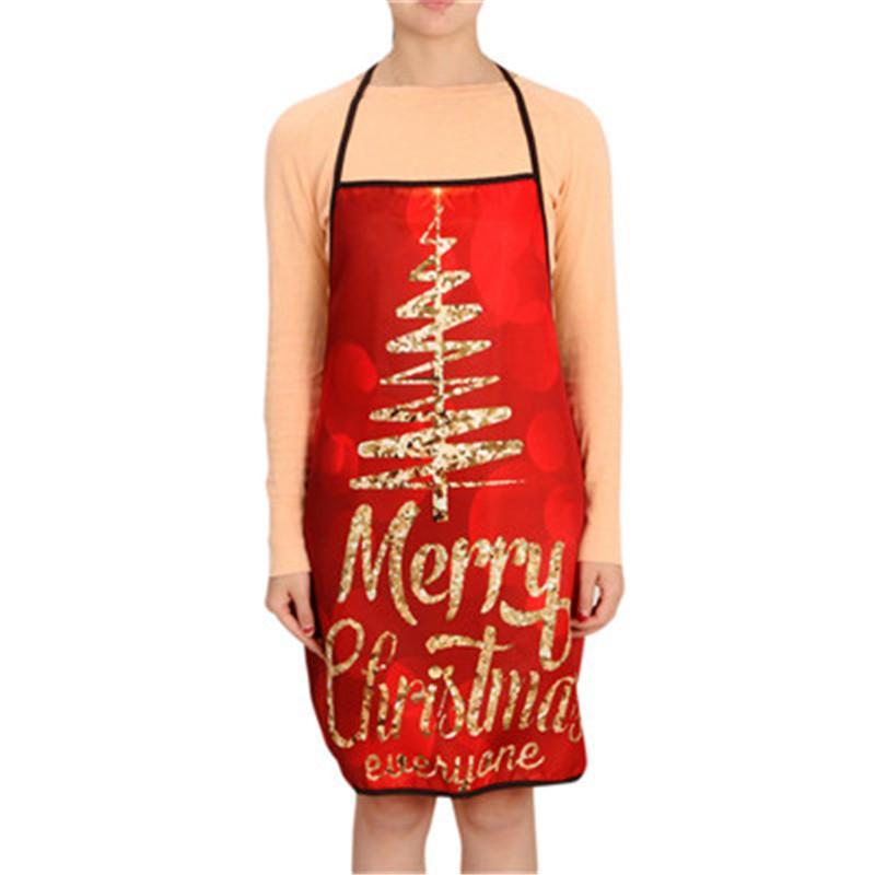 크리스마스 디너 파티 크리스마스 파티 앞치마 앞치마 방수 안티 에이징 앞치마 주방 요리 허리 앞치마 2019