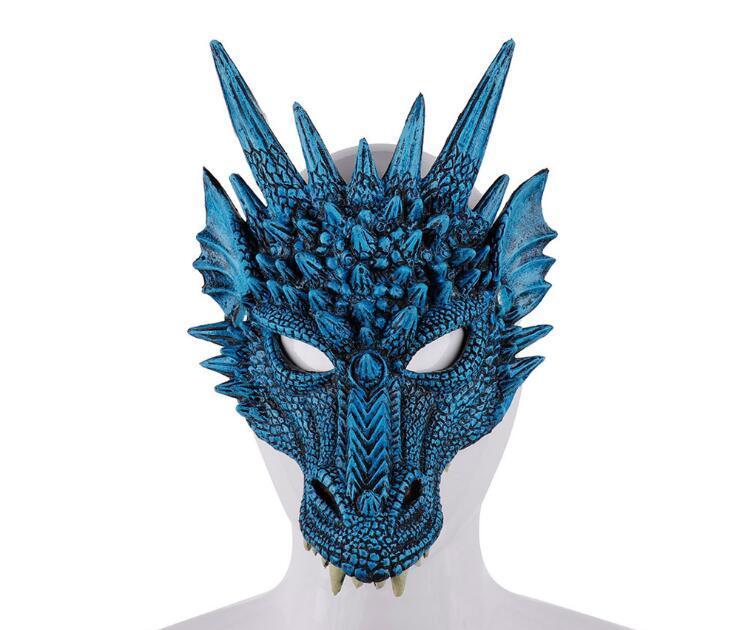 3D Dragon Mask Carnival Party Animal Costume Dragon Cosplay Masquerade Maschera PU maschera Mardi Gras