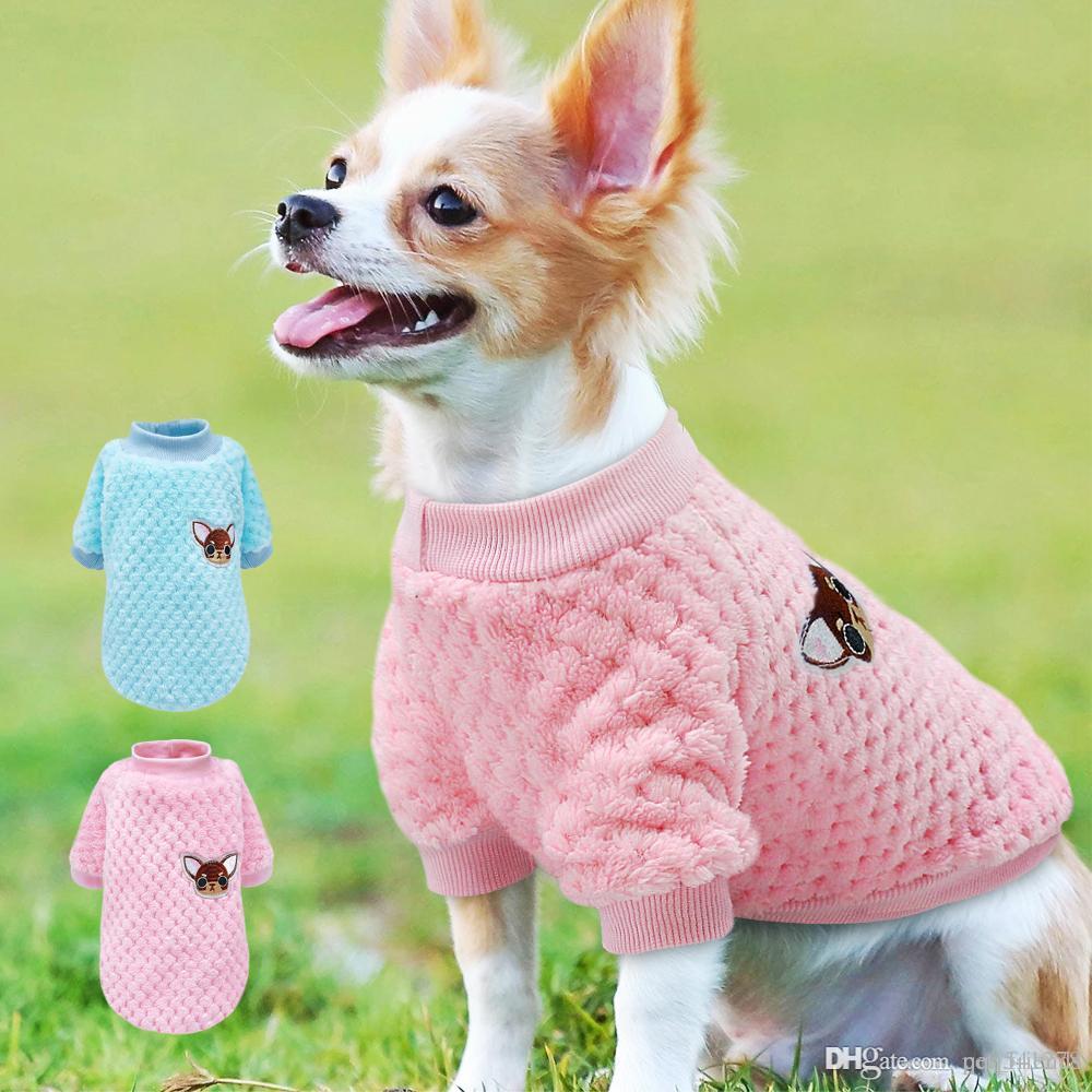 لطيف الكلب الملابس للكلاب الصغيرة تشيهواهوا يوركس الصلصال الملابس معطف الشتاء كلب الملابس جرو سترة روبا بيرو الوردي s-2xl