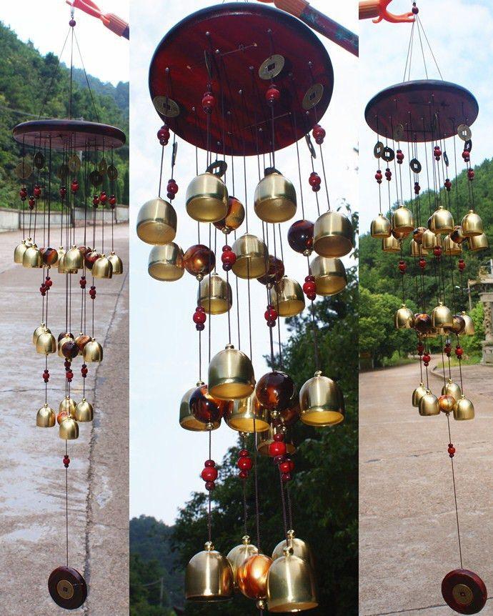 Новый дизайн 18 Bells Медь Ветер куранты феншуй Товары для Yard украшения сада Открытый Музыка ветра Windbell Mascot подарки