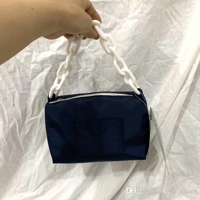 Nylon Baguette Frauen Tasche mit Geldbeutelbeutel Hobo Freier Schulterkette Versand oakpc