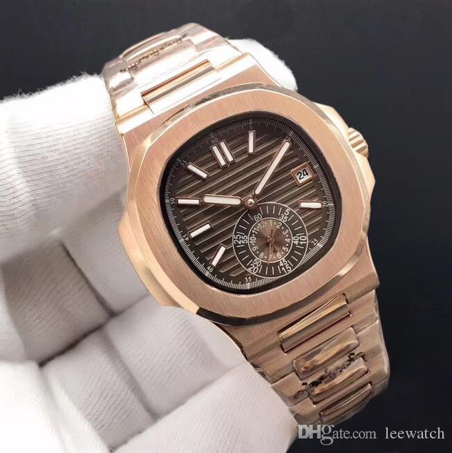 11 цветов Высококачественные часы механические автоматические мужские часы Часы из нержавеющей стали розовый золотой браслет и корпус 40 мм