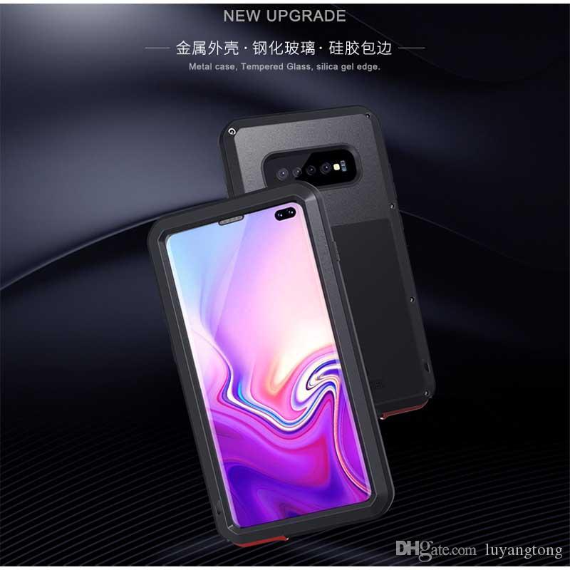 GalaxyS10 + LOVE MEI Housse en métal pour Samsung Galaxy S10 + Housse de protection antichoc S10 Plus pour boîtier S 10 s10e