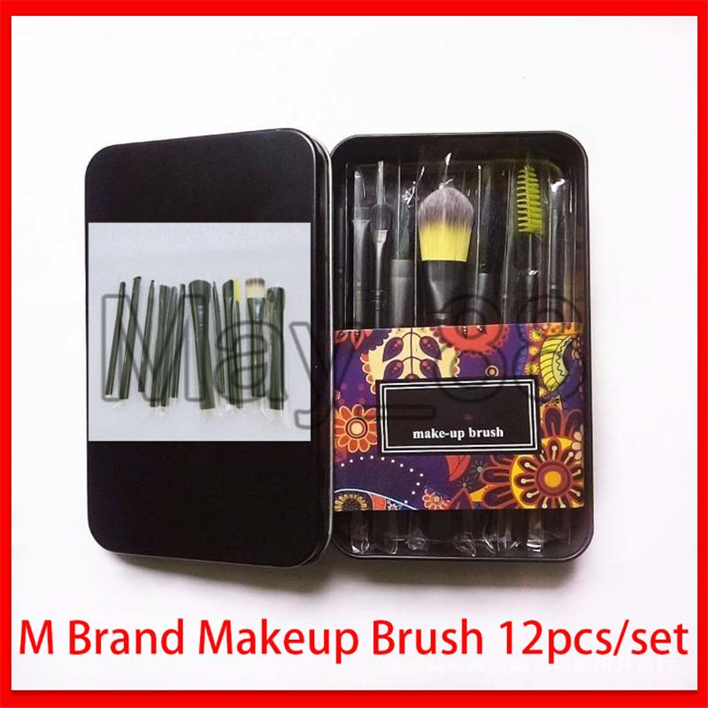 2020 M Marke 12pcs Make-up Pinsel Set Powder Foundation Make-up-Pinsel Rouge Blending Lidschatten Lippenkosmetikum Augen-Make Up Pinsel Kit Werkzeug.