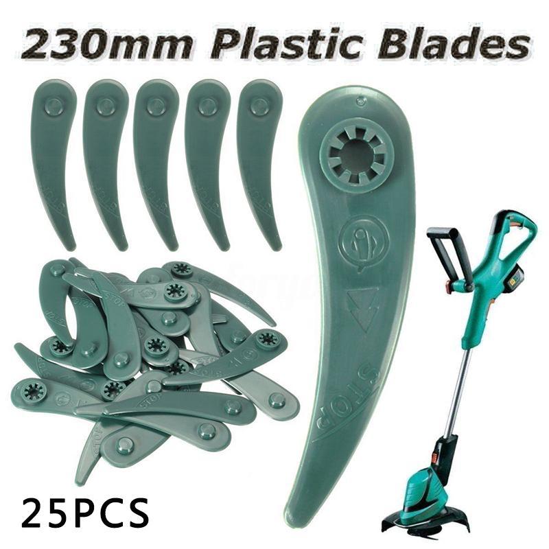 Home & Garden 25pcs Blades for Bosch ART 23-18 Li/26-18Li Grass Strimmer Trimmer garden accessories Lawn Mower plastic blade