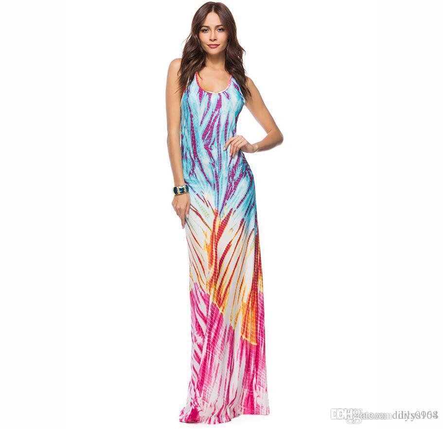 new fashion Woman Originality Women's wear summer Europe and America Round collar Milk yarn Sleeveless Dress Women's Clothing Dres