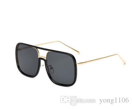 Nova Moda Atraente Óculos Quadrados Óculos De Sol Estrelas com a mesma personalidade boutique de óculos para homens e mulheres