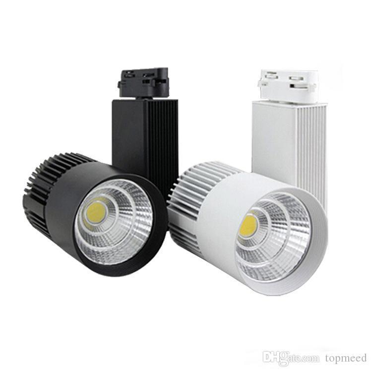 Éclairage sur rail LED COB 20W Dimmable Rail Lights Spotlight Magasin de chaussures Magasin de vêtements Noir Corps blanc Projecteur LED 20W COB LED Rail Rail Plafond