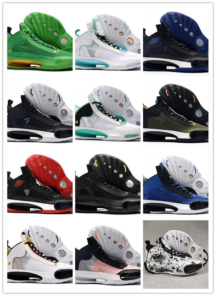 2020 New Style Jumpman XXXIV 34 Eclipse Blue Void Green White 22 Colours Mens Basketball Shoes For Hot Sale 34s Men Sports Sneakers US 40-46