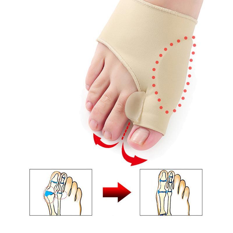 1Pair Toe Separator Hallux Valgus Corrector Feet Bone Thumb Adjuster Toe Separator Pedicure Socks Bunion Device