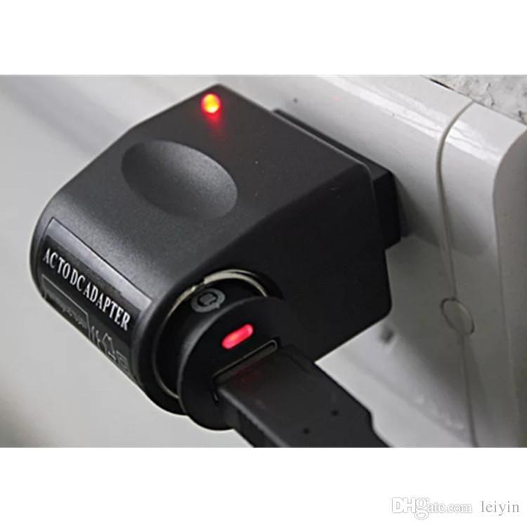 Coche de la alta calidad de mechero CA portátil adaptador convertidor cargador de 220V de corriente de pared Para CC 12V Negro de EE.UU. enchufe de la UE