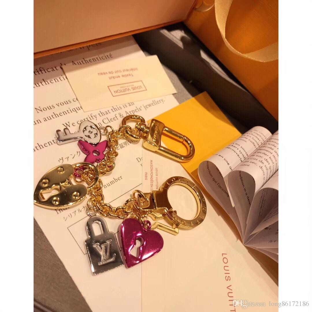 Designer Fashion Accessories Keychain M67437 Lock Love Heart Shape Key Chain 2019 Luxury Products Made in France Full Packaging