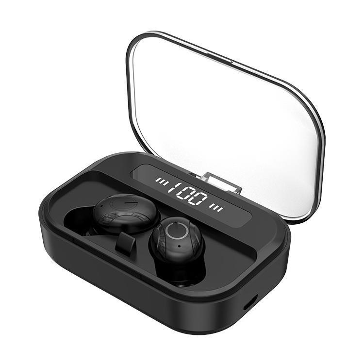 TWS الألعاب سماعة مع LED قوة العرض Wateroroof في الأذن سماعات الأذن اللاسلكية الرياضة للحد من الضوضاء بلوتوث 5.0 سماعة