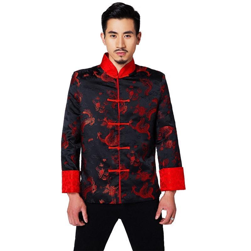 남성 중국 의류 남성의 중국어 웨딩 드레스 신랑 Longfeng 의류 레드 중국어 셔츠 당나라 정장 전통 드레스