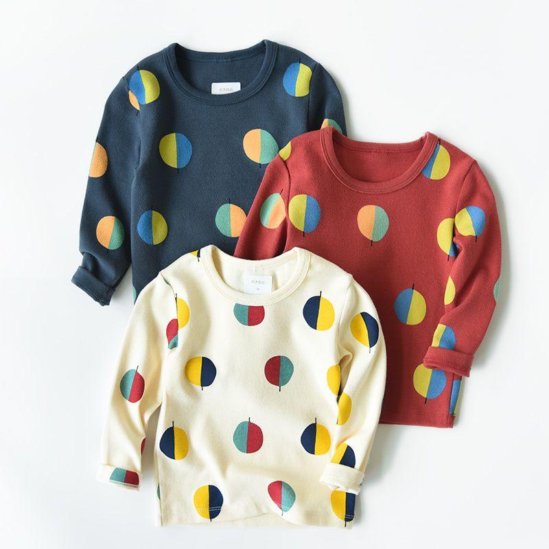 Baby Jungen Mädchen T Kleidung Kinder Herbst Winter Langarm Shirts Kleinkind Bunte Dot Tees Kinder Tops Kostüm Shirt Q190523