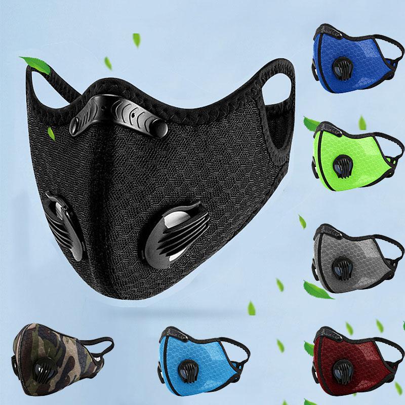 7 ألوان الدراجات قناع للكبار في الهواء الطلق ركوب Windtproof الغبار تنفس الرياضة قناع حماية الوجه