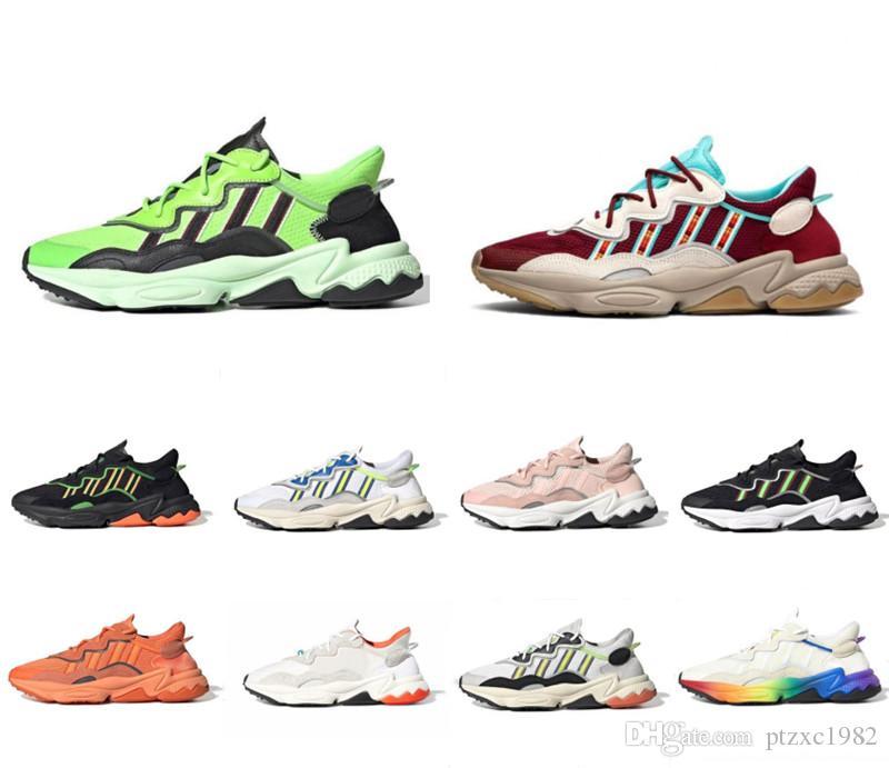 2019 3 M Yansıtıcı Xeno Ozweego Erkek Kadın Koşu Ayakkabıları Güneş Sarı Gurur Bulut Beyaz Altın Dönem Paketi Erkek Eğitmenler Spor Sneakers 36-45