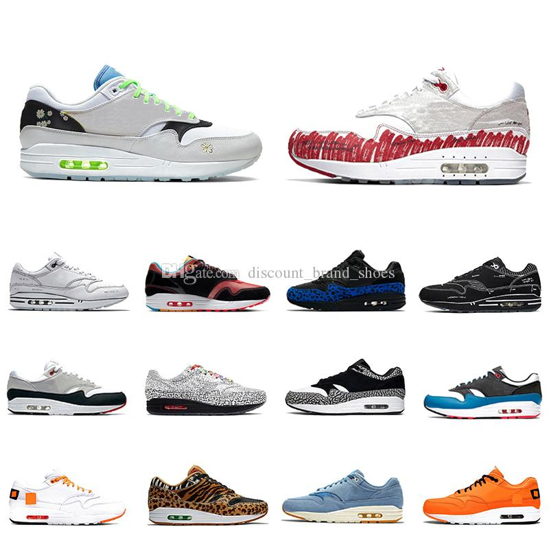 Nike Air max 1 airmax just do it Sketch To Shelf Schematic 1 Mens running shoes Inside Out Script 1s Elephant Tokyo Maze men women sports designer sneakers