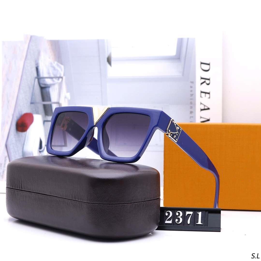Hombre mujer de las gafas de sol hombre verano UV400 anteojos de V Letter 2371 5 colores muy calidad con la caja