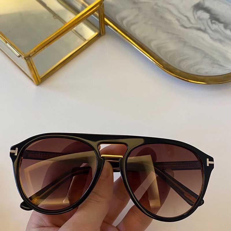 TF солнцезащитные очки новые дизайнерские солнцезащитные очки овальная рамка популярные металлические очки мужские дизайнерские очки высокое качество uv400 очки 0697 с оригинальной коробкой