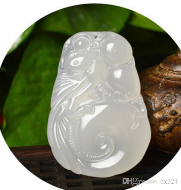 Véritable jade hommes et femmes modèles couple poli mode agate calcédoine jade artisanat pendentif Phoenix pendentif en jade