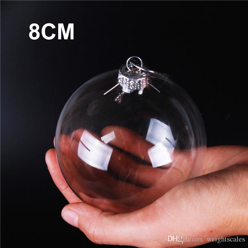 """Chuchería de la boda Adornos de Navidad Navidad bolas de cristal Decoración de 80 mm bolas de boda Bolas de Navidad de cristal claro de 3"""" / 80mm de Navidad"""