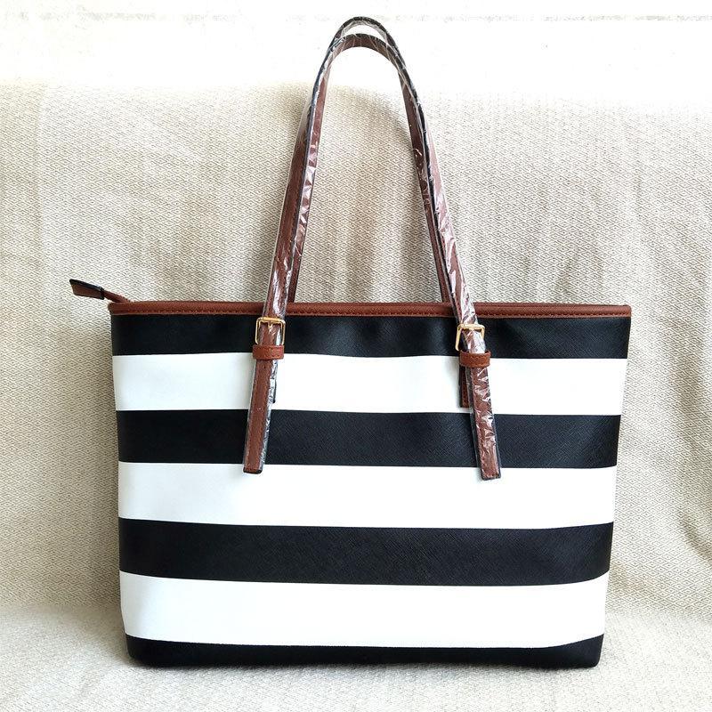 Ladies Solid Handbags Women Bags For Brands Designer Famous Stripes Quality High Handbags Bag Shoulder Fashion New 2020 Cnoce
