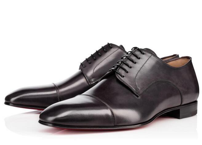 [Original Box] Neue Schuhe Marke Mode-rote untere Schuhe Greggo Orlato Flache Leder Oxford Schuhe Männer Frauen Gehen Wohnungen Hochzeit Loafer