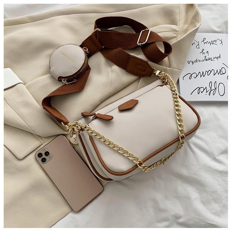 Satış 3 parça seti crossbody çanta Gerçek Deri lüks çanta cüzdan tasarımcıları bayan çanta torbaları Madeni Para Çanta üç öğe çanta kadın tasarımcılar