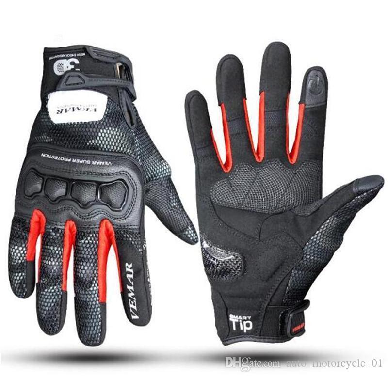 Новые Кожаные Мотоциклетные Перчатки Мужские Перчатки Для Мотокросса Мотоцикл Езда Защитное Снаряжение Сенсорный Экран Moto