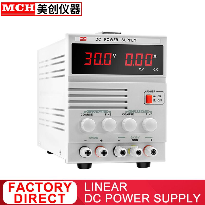 DC Power Supply 30V 2A 3A 5A Adjustable with 5V 2A Fixed Output Linear DC Regulated Power Supply Benchtop Power Supply 302B 303B 305B